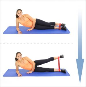 lying-straight-leg-abduction-with-loop-resistance-bands, Glutes